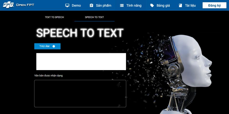 OpenFPT Speech: Ứng dụng đọc và nghe tiếng Việt tự động